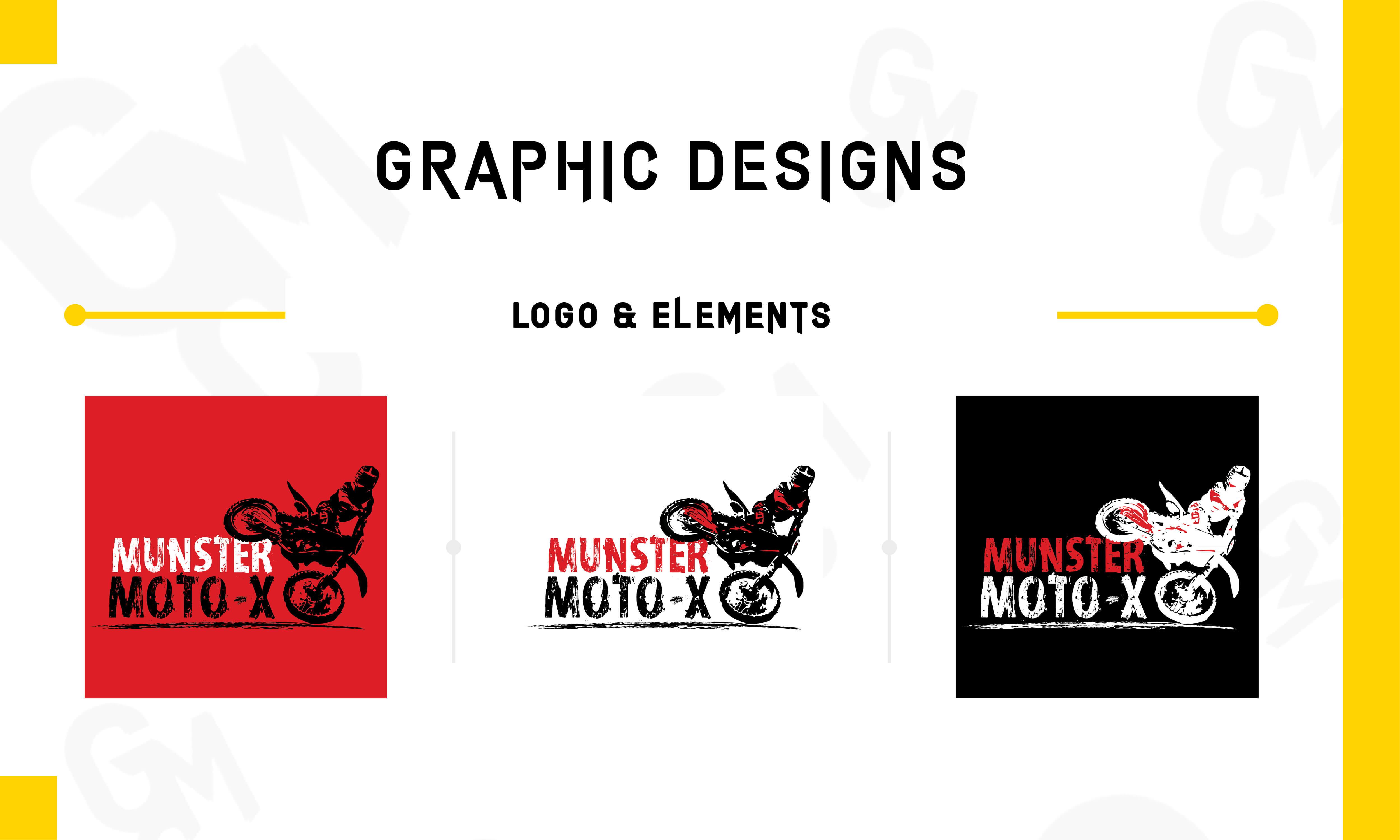Munster Moto-X Portfolio (Graphic Design)